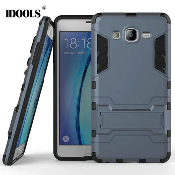 for Fundas Samsung Galaxy On 7 Case Hybrid Dual Heavy Duty Armor Stand Cases Cover For Samsung Galaxy On7 G6000 Coque IDOOLS