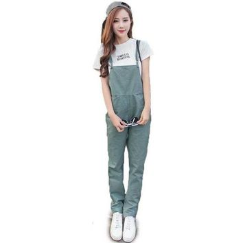 LMFIJ6 Women Bib Overall Casual Jumpsuits Suspender Trousers Pants Black Army Green Dungarees