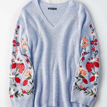 AE Soft & Pretty Sweater, Light Blue