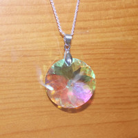 Crystal Pendant Necklace, Necklace With Colorful Pendant, Necklace That Sparkles