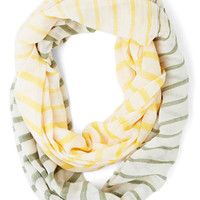 ModCloth Pastel Confectionary Calling Scarf in Yellow and Green