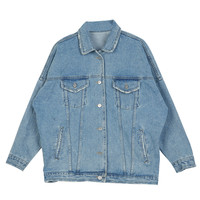 Blue Light Washed Denim Coat