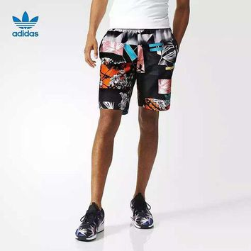 LMFON Adidas' Fashion Casual Multicolor Geometric Pattern Print Men Leisure Pants Sweatpants Shorts