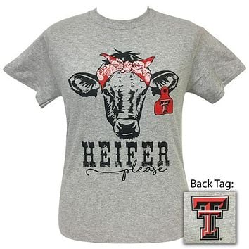 Texas Tech Red Raiders Preppy Heifer Please Cow T-Shirt