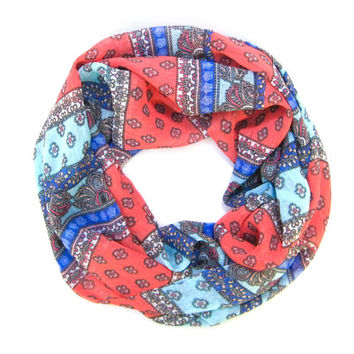 Adult Cowl Scarf, Single Loop Scarf, Spring Scarf, Women Scarf, Poe-Poe's Just Enough Scarf, Fashion Scarf, Mother's Day Gift, Ready to Ship