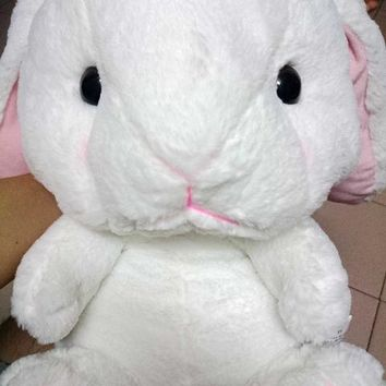 Cute Lop 40cm Rabbit Lolita Backpack White Plush Bunny Cosplay Inside Princess Sweet Bag Loppy Bunny