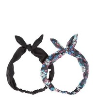 2 Pack Blue Daisy Print Headscarves