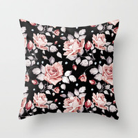 Shabby Chic Rose Throw Pillow by Madisyn Nicole