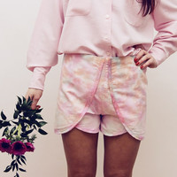 FIELD / hand painted shorts with lace