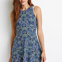 Abstract Mosaic Racerback Dress