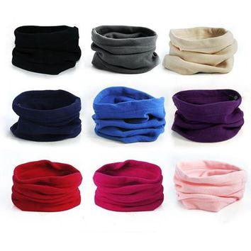 Men Women's Outdoor Sports Winter Hunting Thermal Fleece Scarf Snood Hood Neck Warmer Hat Neck Tube Tactical Face Mask Balaclava