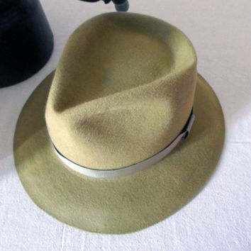 Mustard Yellow Wool Felt Fedora