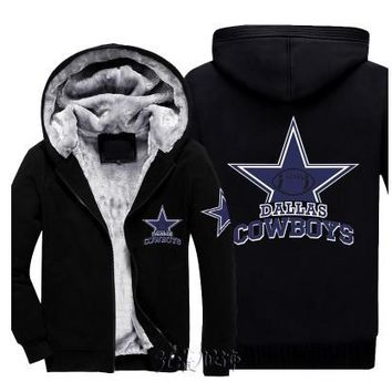 Men Women Steelers Broncos Cowboys Hoodies Zipper Sweatshirts Jacket Printed Winter Thicken Hooded Coat Plus Size M-6XL
