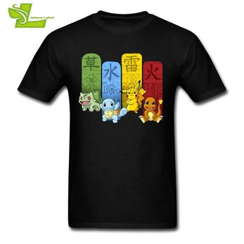 Monster T Shirt Man Summer 100% Cotton Club Tees Adult Latest Big Tops Cool Summer Loose Dad Tee ShirtsKawaii Pokemon go  AT_89_9