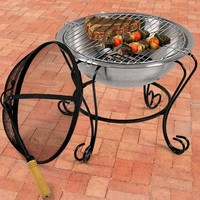 WoodEze 18'' Stainless Steel Fire Pit