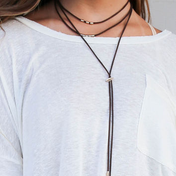 Rodeo Brown Tassel Relapse Necklace