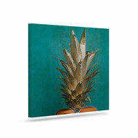 "Chelsea Victoria ""24 Karat Pineapple"" Gold Digital Canvas Art"
