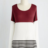 Colorblocking Mid-length Long Sleeve Saturday Spontaneity Top