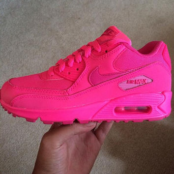 Almost Sold Out Order soon will not be restocking Custom pink Nike Air Max  90 606ecdf4ba