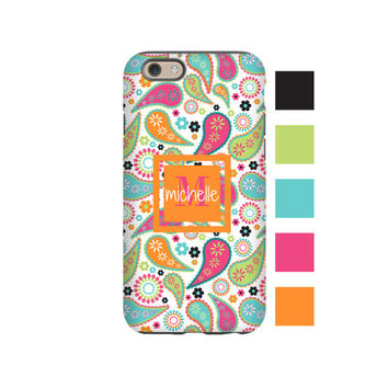Paisley iPhone case, boho iPhone SE case/6s case/6s Plus case, custom iPhone cases, monogram iPhone case, 3D iPhone case, iPhone 6/5c/5s/5