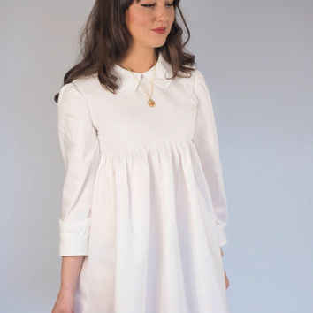 Ivory Peter Pan Collar Baby Doll Dress