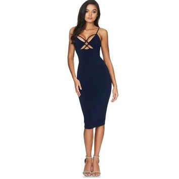 Bodycon Sheath Dress Sleeveless Dresses Women Clothing