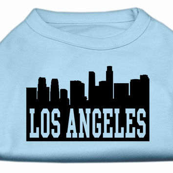 Los Angeles Skyline Screen Print Shirt Baby Blue XXXL (20)