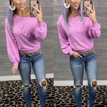 Orchid Pearl Long Sleeve Top