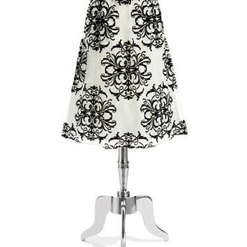 Chetta B Jacquard Detailed Overlay Skirt