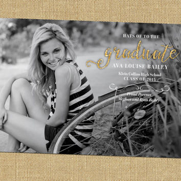 Glitter Senior Announcement Girl Senior Graduation Invitation High School Graduation Announcement College Graduation Invitation