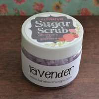 Sugar Scrub *Lavender* Exfoliating Body Scrub made with Raw Organic Sugar, Grapeseed Oil and Vitamin E, 8 ounces, Great Mother's Day Gift!