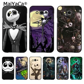 MaiYaCa Jack Skellington The Nightmare Before Christmas Phone case for samsung J5 j120 j3 j7(2015) note 3 note4 note5 case coque