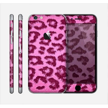 The Neon Pink Cheetah Animal Print Skin for the Apple iPhone 6