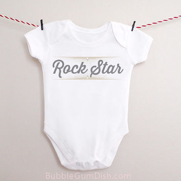 Rock Star OnePiece Baby Outfit for New Babies & Toddlers RockStar Starburst Band Practice
