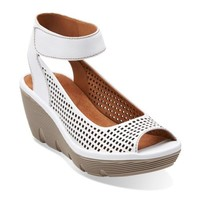 Clarene Prima White Leather - Women's Wide Shoes - Wide Width - Clarks