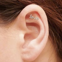 MINI Love Cartilage Earring, Sterling Silver