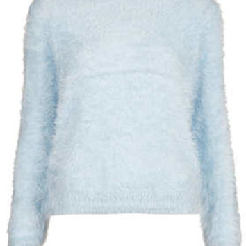 Knitted Fluffy Crew Jumper - New In This Week  - New In