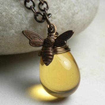 Honey Bee Necklace | Bumble Bee Necklace