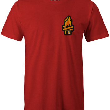 Campfire T-Shirt Red Heather