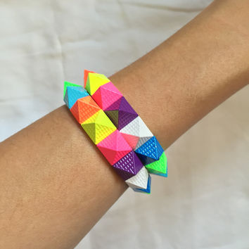 Colorful Pyramid Bracelet