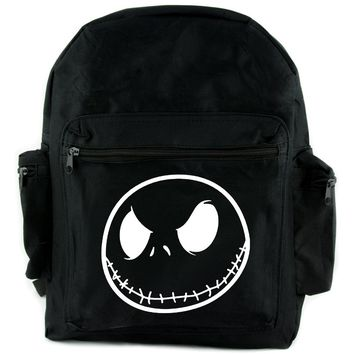 Negative Jack Skellington Backpack School Bag Nightmare Before Christmas