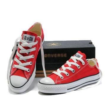 LMFUG7 Red 'Converse' Fashion Canvas Flats Sneakers Sport Shoes Low Top