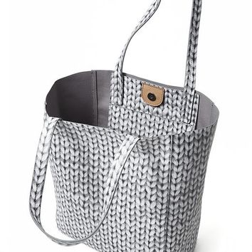 Ashbury Sweater-Print Tote