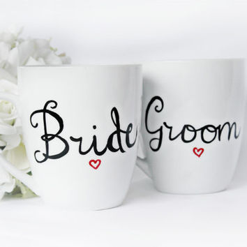 Unusual Wedding Gifts For Groom From Bride : Bride and Groom Mugs- Engagement Gifts- Wedding Gifts- Unique Gifts ...