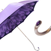Pasotti Purple Dahlia Umbrella