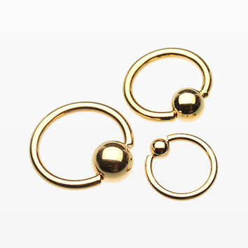 Gold Plated Basic Captive Bead Ring