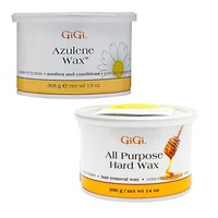 GiGi Azulene Wax 13 oz + All Purpose Hard Wax 14 oz
