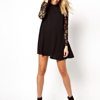 ASOS Maternity Swing Dress With Lace Sleeve