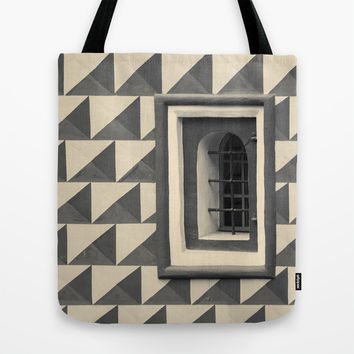 Geometric Old Wall Pattern Tote Bag by Cinema4design | Society6