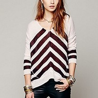 Free People  Chevron Stripe Pullover at Free People Clothing Boutique